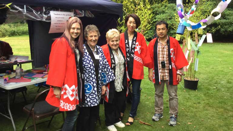 Angela with the Manchester Tanabata Embassy Staff and Helpers